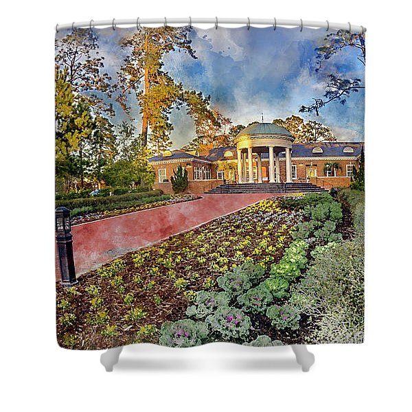Coastal Carolina University Digital Watercolor Shower Curtain