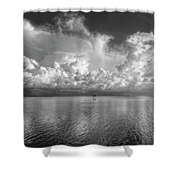 Coastal Clouds 2 Shower Curtain
