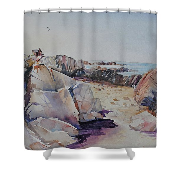 Coastal Lookout  Shower Curtain