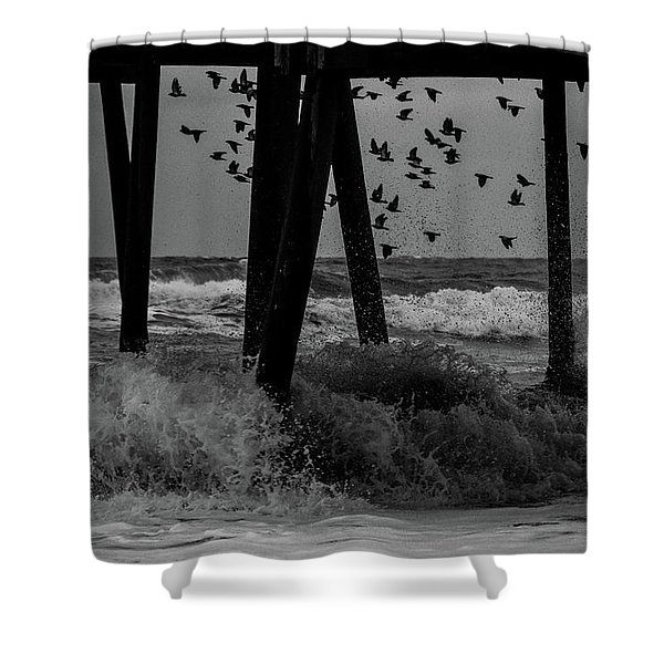 Coastal Movements Shower Curtain