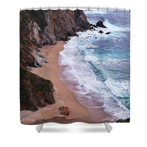 Coastal View At Big Sur Shower Curtain