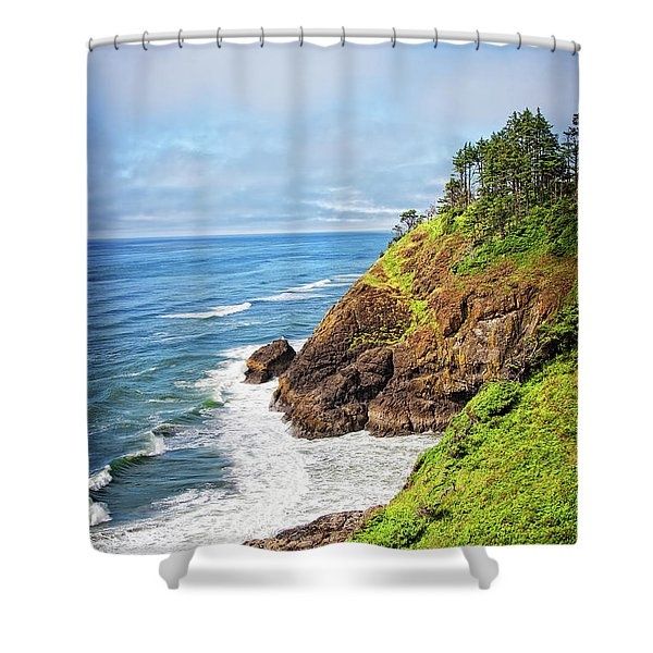 Coastal View From North Head Shower Curtain