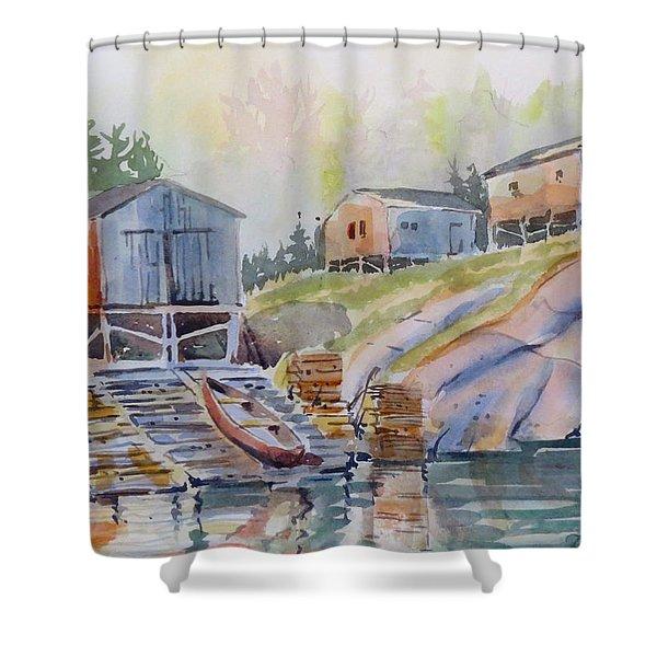 Coastal Village - Newfoundland Shower Curtain