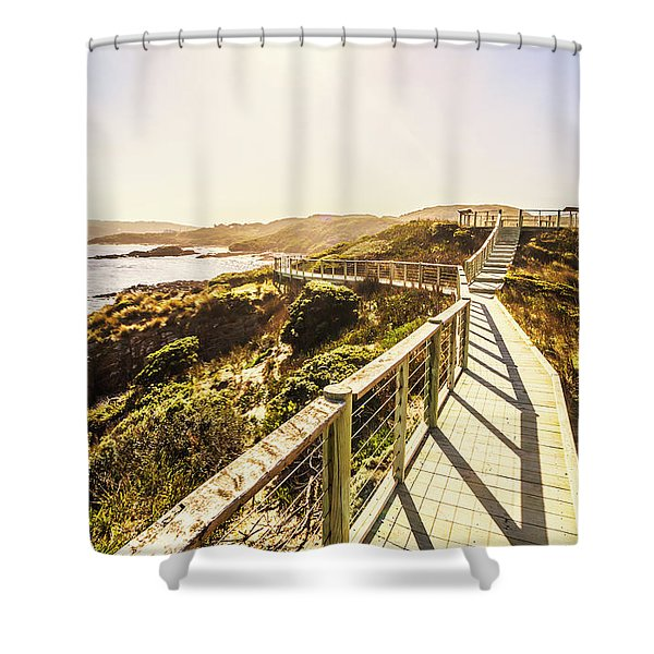 Coastal Way Shower Curtain