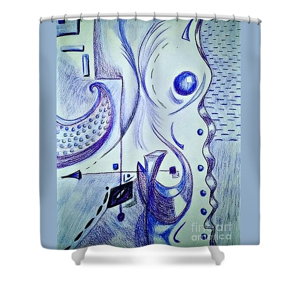 Cobalt Awakening  Shower Curtain