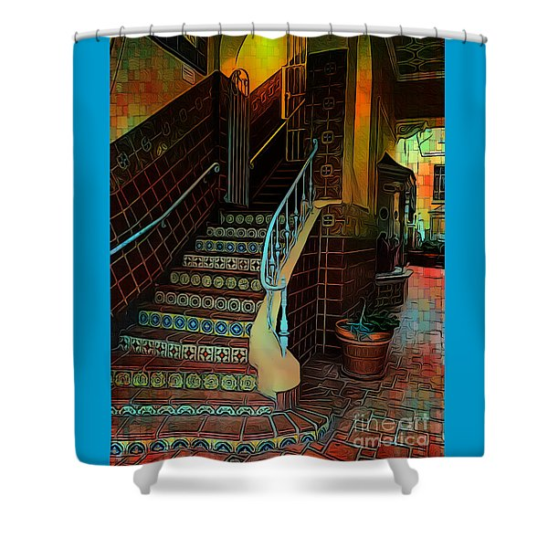 Cobblestone And Tile Shower Curtain