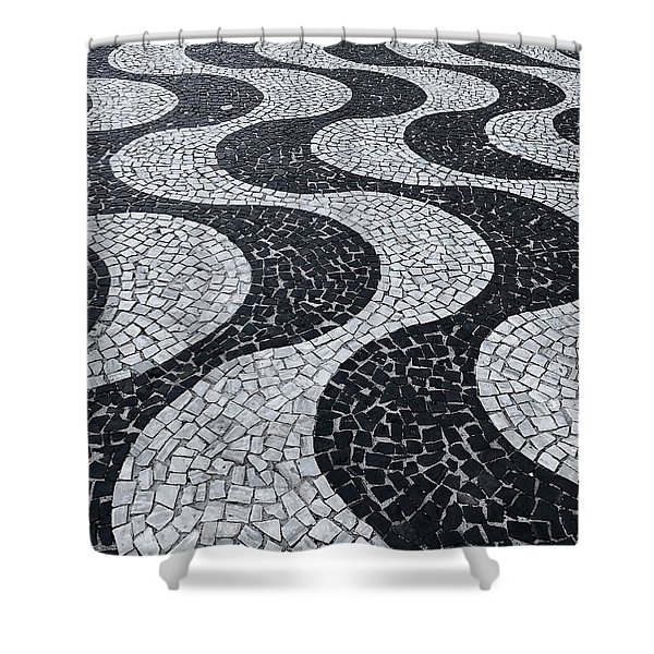 Cobblestone Waves Shower Curtain