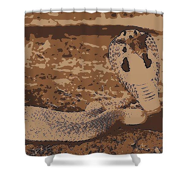 Cobra Love Shower Curtain