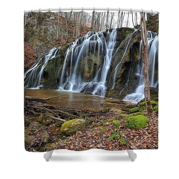 Cobweb Falls Shower Curtain
