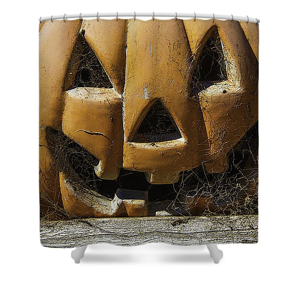 Cobweb Pumpkin Shower Curtain