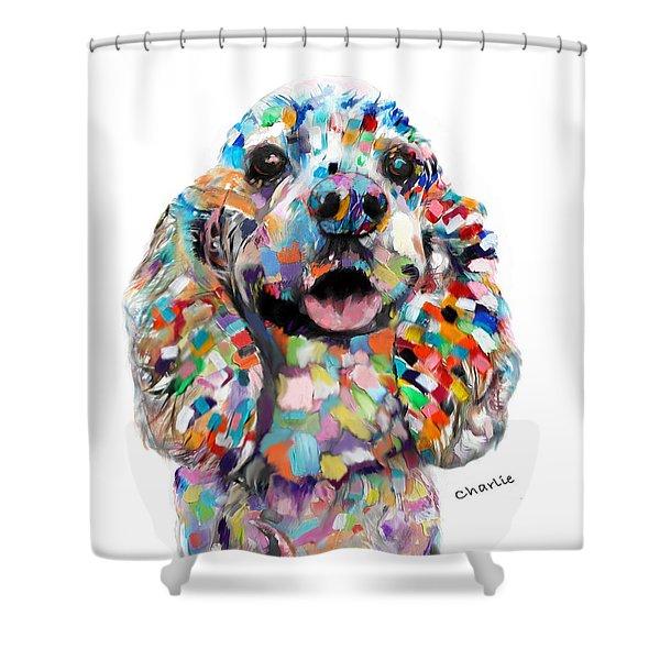 Cocker Spaniel Head Shower Curtain