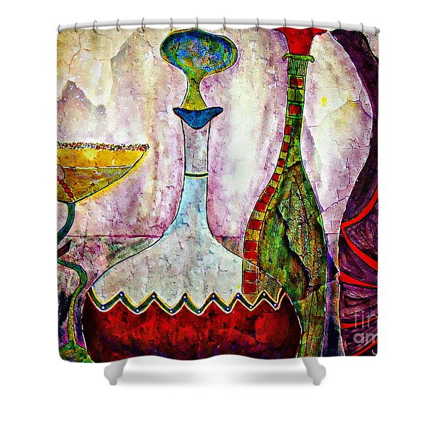 Cocktail And Wine Shower Curtain