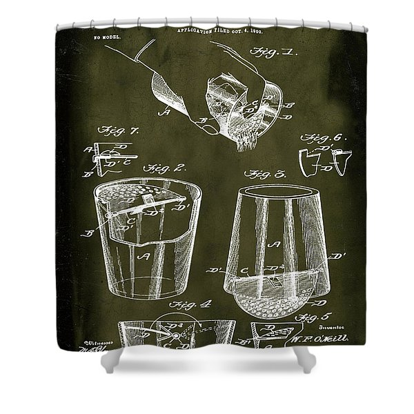 Cocktail Mixer Patent 1903 In Marble Shower Curtain