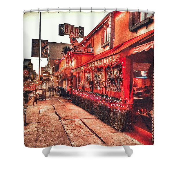 West Los Angeles Cocktail Row Shower Curtain