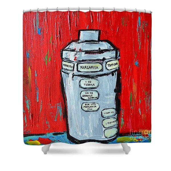 Cocktail Shaker - Margarita - Bottoms Up Shower Curtain