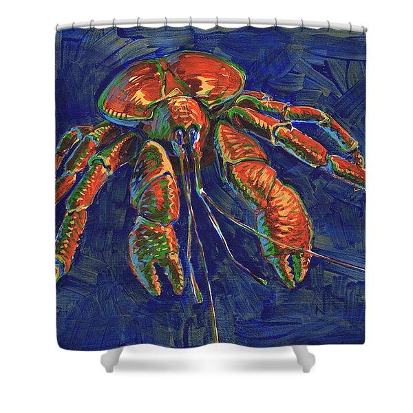 Coconut Crab Shower Curtain