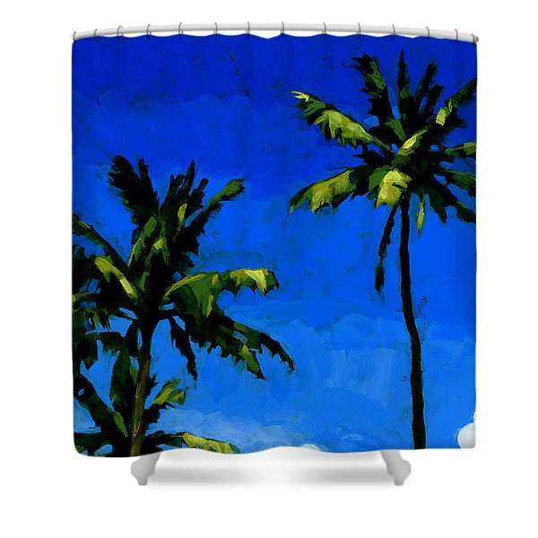 Coconut Palms 5 Shower Curtain
