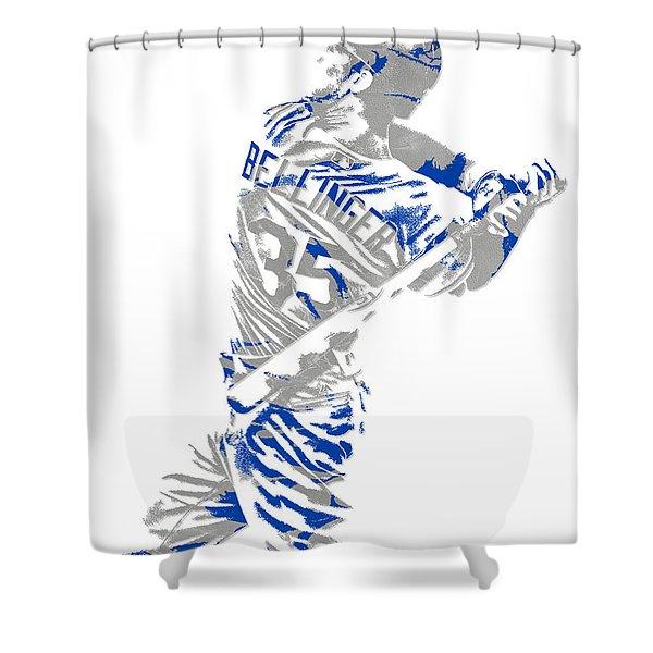 Cody Bellinger Los Angeles Dodgers Pixel Art 2 Shower Curtain
