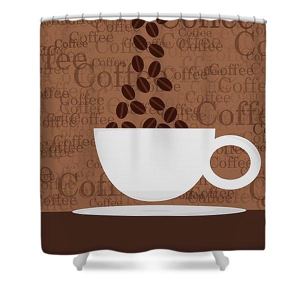 Coffee #3 Shower Curtain
