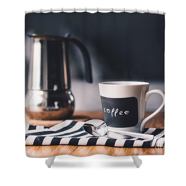 Coffee #5  Shower Curtain