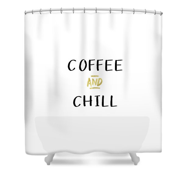 Coffee And Chill-art By Linda Woods Shower Curtain