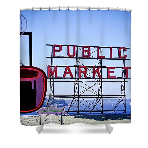 Coffee At The Market Shower Curtain