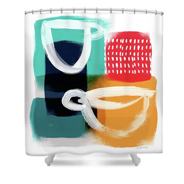 Coffee Bar- Art By Linda Woods Shower Curtain