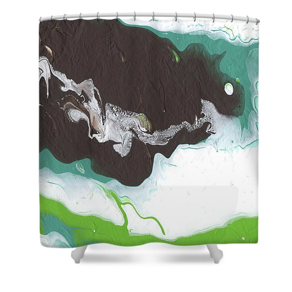 Coffee Bean 2- Abstract Art By Linda Woods Shower Curtain