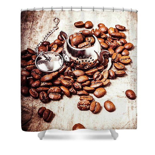 Coffee Break At The Tea House Shower Curtain
