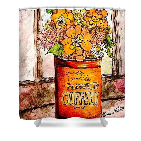 Coffee Can Bouquet  Shower Curtain