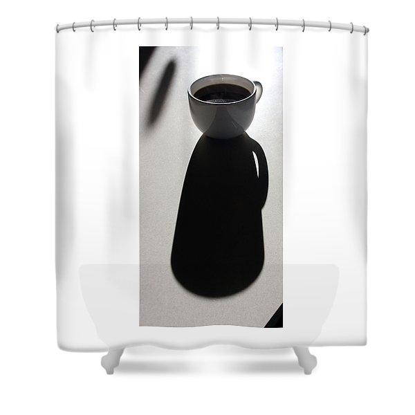 Coffee Cup Shadow Shower Curtain