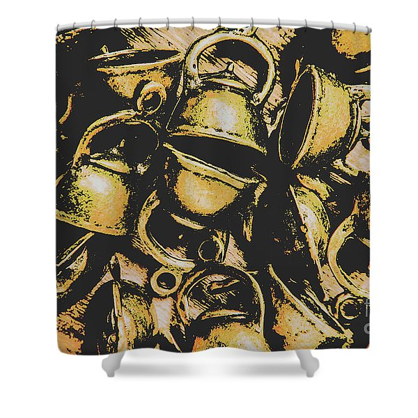 Coffee Shop Abstract Shower Curtain