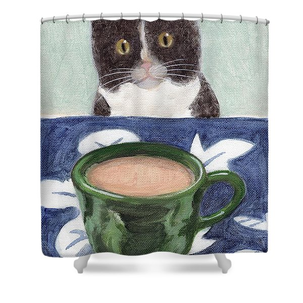 Coffee With Henry #4 Shower Curtain