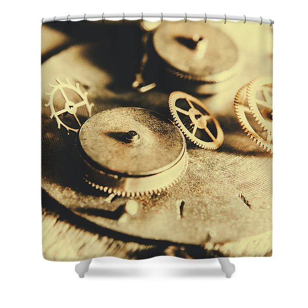 Cog And Gear Workings Shower Curtain
