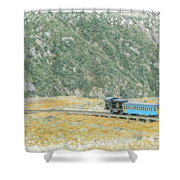 Cog Railroad Train. Shower Curtain