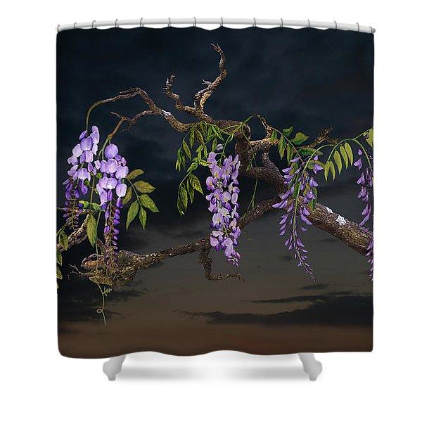 Cogan's Wisteria Tree Shower Curtain