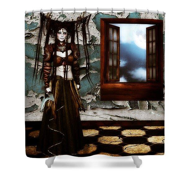 Cogitatione Abstracta Shower Curtain