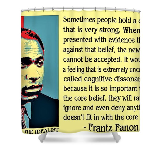 Cognitive Dissonance Frantz Fanon Shower Curtain
