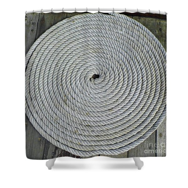 Coiled By D Hackett Shower Curtain