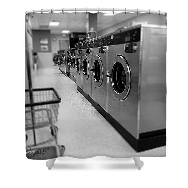 Coin Wash Shower Curtain