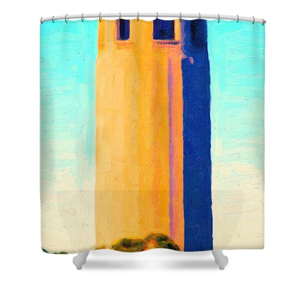 Coit Tower San Francisco Shower Curtain by Wingsdomain Art and Photography