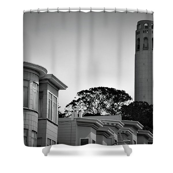 Coit Tower Shower Curtain