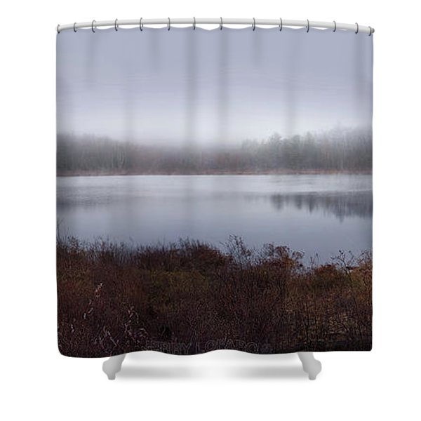 Cold And Misty Morning... Shower Curtain