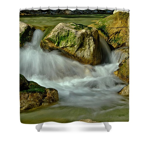 Cold Milky Creek Shower Curtain