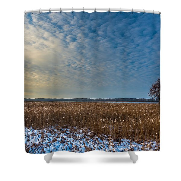 Cold Serenity Shower Curtain