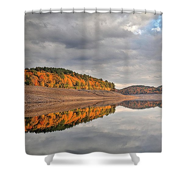 Colebrook Reservoir - In Drought Shower Curtain