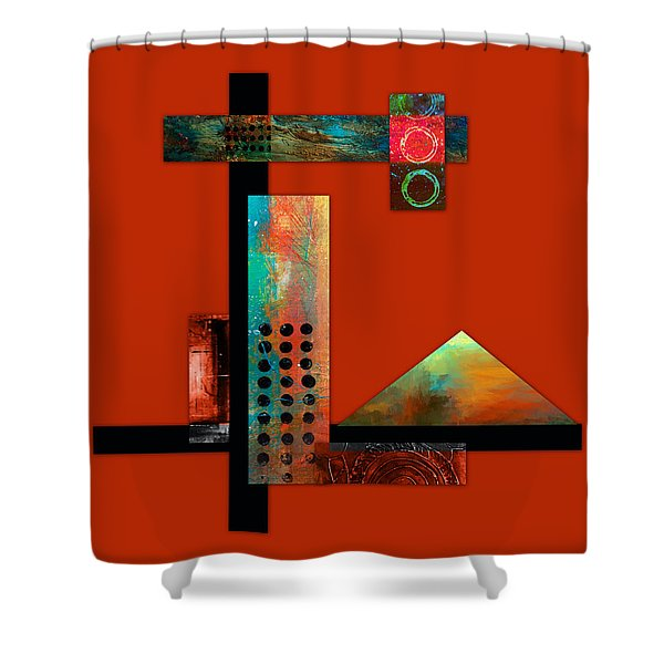 Collage Abstract 1 Shower Curtain