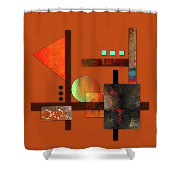 Collage Abstract 9 Shower Curtain