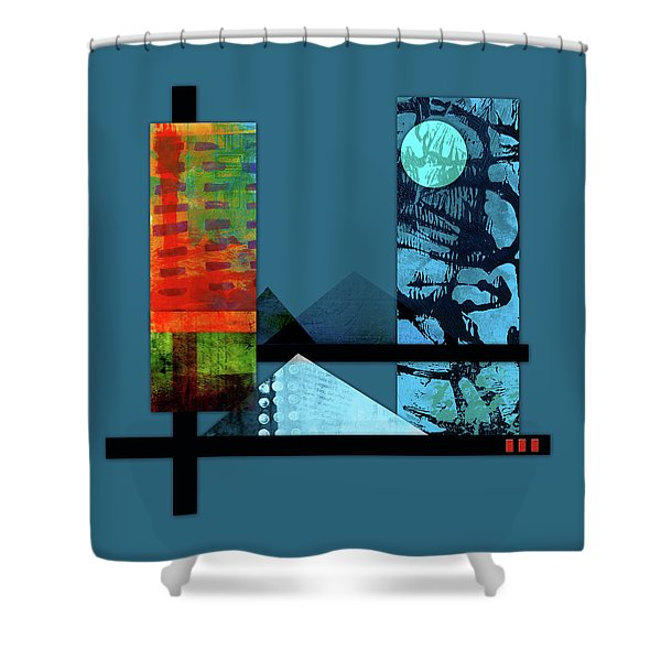Collage Landscape 1 Shower Curtain