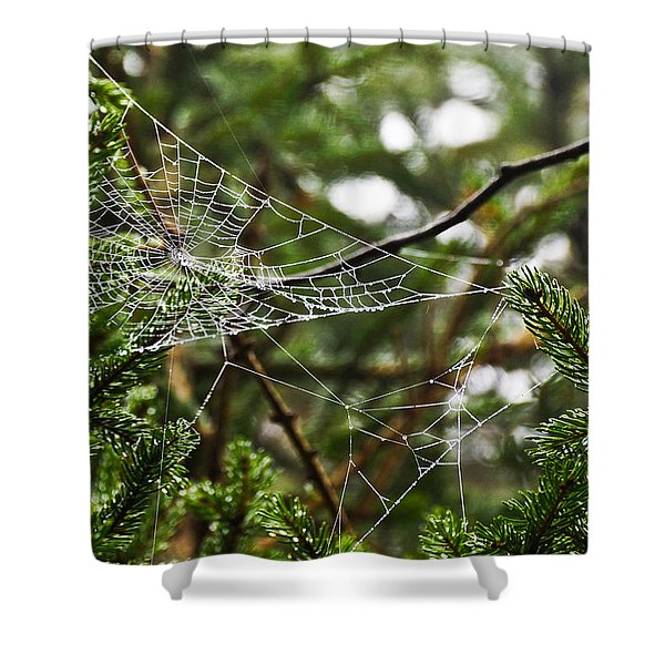 Collecting Raindrops Shower Curtain